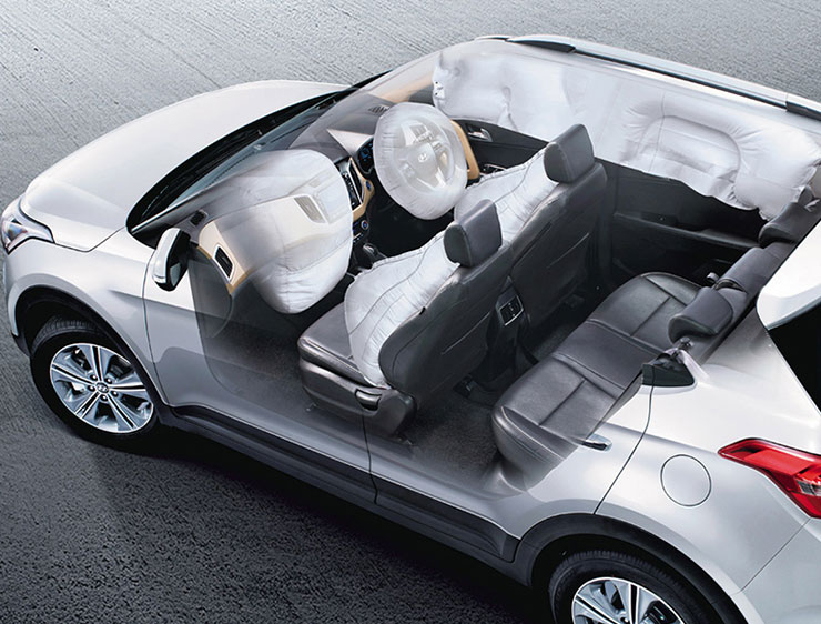 SIX AIRBAGS (DRIVER, PASSENGER, SIDE & CURTAIN)